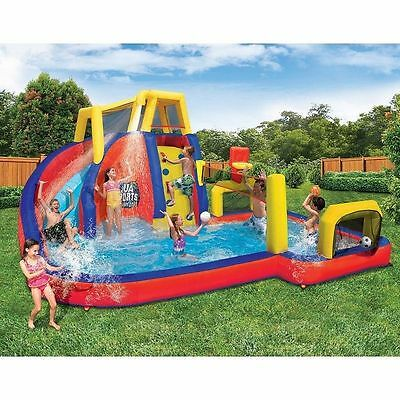 Inflatable Water Sports Park Slide Splash Pool Games Backyard Swim Swimming New