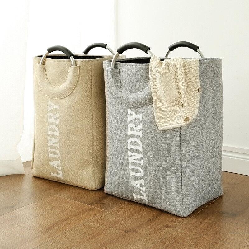 Collapsible Laundry Basket Hamper Bag Foldable Washing Bin W