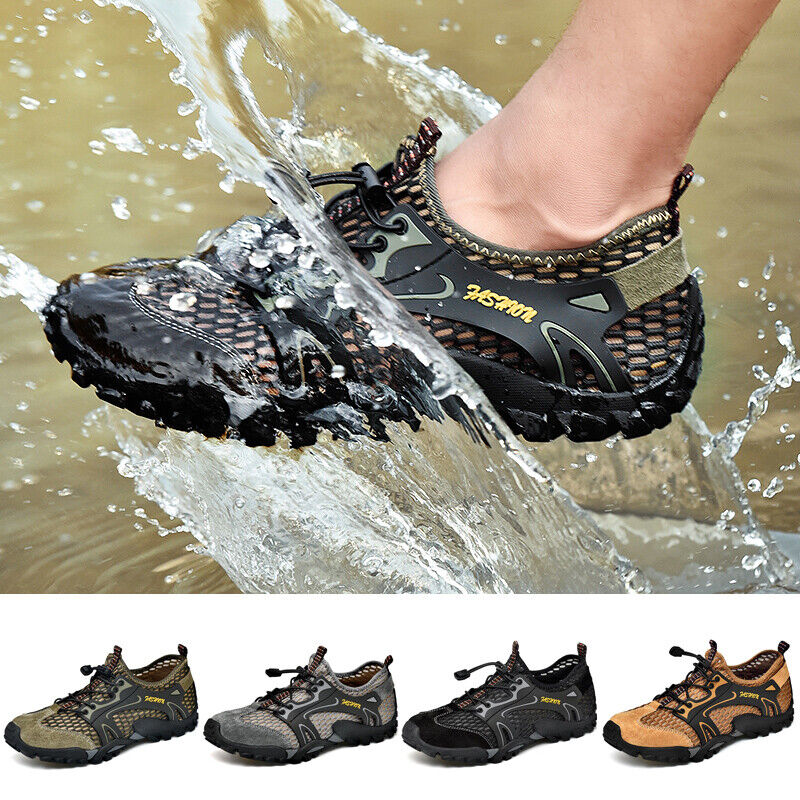 Men/'s Slip on Hiking Shoes Outdoor Loafers Breathable Climbing Casual Sneakers