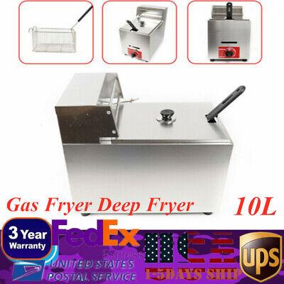 Kld-71 10l 1-pot Commercial Restaurant Kitchen Gas Fryer Deep Fryer 1basket New