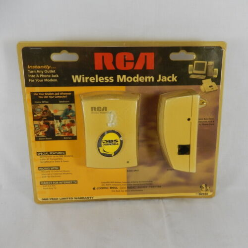 New RCA Wireless Modem Jack RC930 Base Unit and Extension Jack