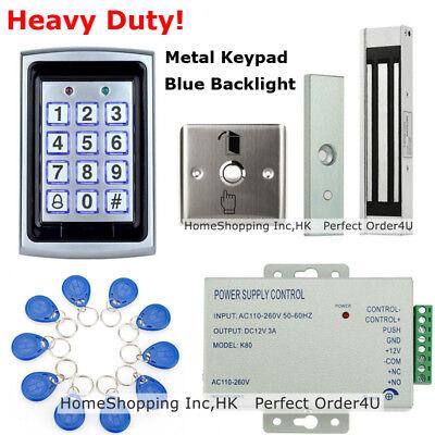 RFID Card + Password Door Access Control System+ Door Magnetic Lock+ Metal Exit