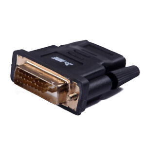 HDE DVI-D Dual Link 24+1 Male to HDMI Female Adaptor (New)