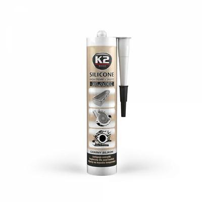 K2 Silikon Schwarz Dichtmasse Dichtungssilikon 300g Hochtemperatur +350°C