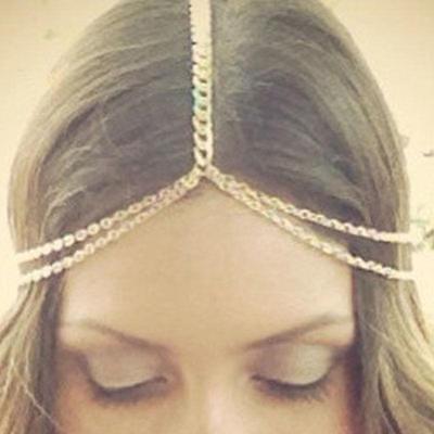 Bohemian Women Metal Tassel Head Chain Headband Jewelry Headpiece Hair Band New