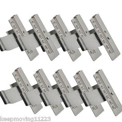 10x Dental Endo Finger Rulers Ruler Span Measure Scale Endodontic Instrument