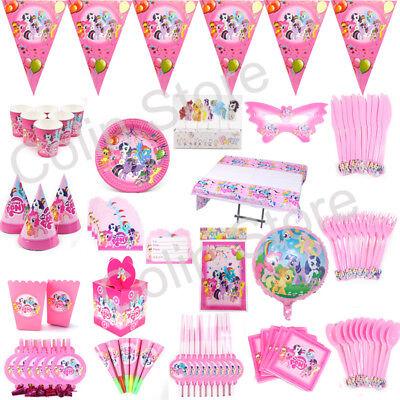 147x My Little Pony Birthday Party Kits Girls Tableware Favor Decoration Plates - Mlp Birthday Party