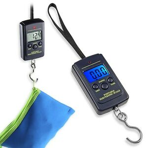 40Kg x 10g Digital Fishing Hanging Luggage Weight Weighing Hook Pocket Scale US