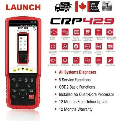 LAUNCH CRP429 OBD2 Car Diagnostic Scanner Oil DPF ABS SRS Bleed Injector Coding