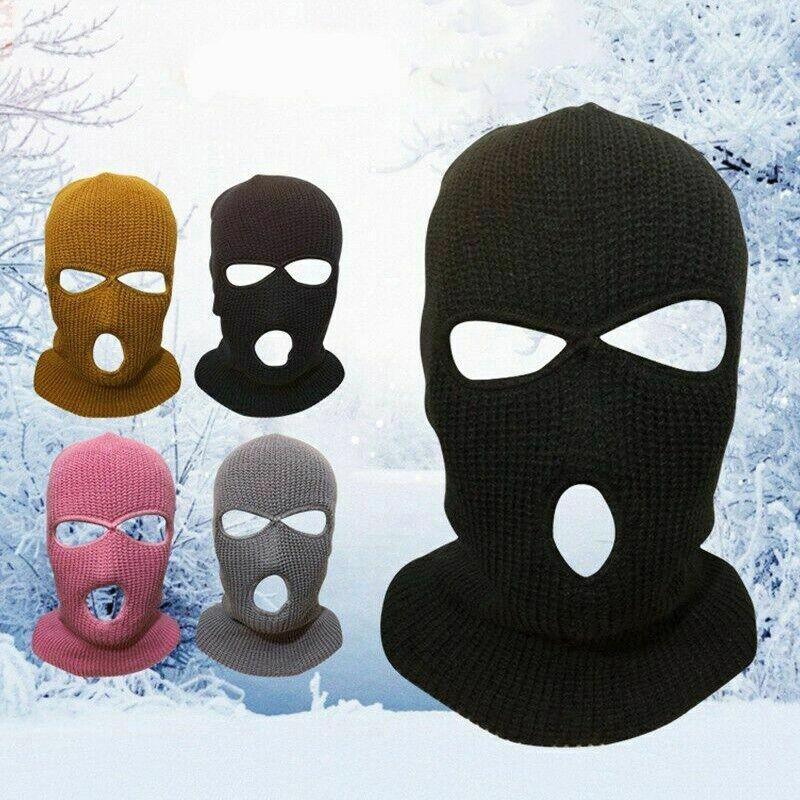 2//3 Holes Unisex Face Mask Ski Mask Winter Cap Balaclava Hat Windproof 13US