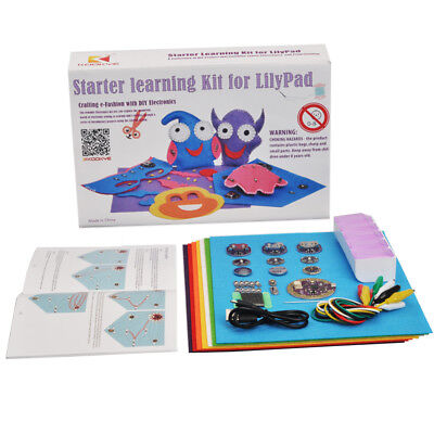 Lilypad Learning Sewable Project Ultimate Starter Kit For Arduino Diy Toy