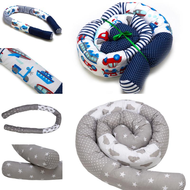 Babynestchen Bettschlange Nackenrolle Nestchen Kissen Babynest Bettrolle 210 cm