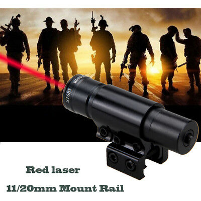Airsoft Pistol Red Dot Laser Lazer Beam Pointer Scope Mount fit 11/20mm Rail Hot