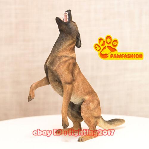 1/6 Scale Belgian Malinois Statue Standing Roar Dog Model Resin GK Accessories
