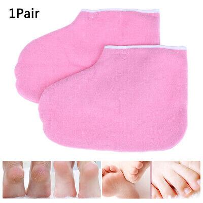 1 Paar Paraffinwachs Bad Fußpflege Fußdecke Tuch Spa Pediküre Pflege Pink EFCRH