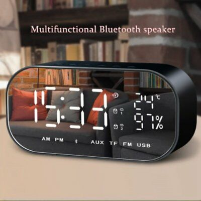 Wireless Bluetooth Lautsprecher FM-Radio Wecker Stereo Super Bass MP3