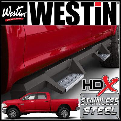 Westin HDX Drop STAINLESS STEEL Nerf Step Bars 2010-2019 Ram 2500 3500 Crew (Cab Westin Nerf Bars)