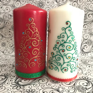 Candle Decor/ Creative Crafty Henna Candles, Home Decor
