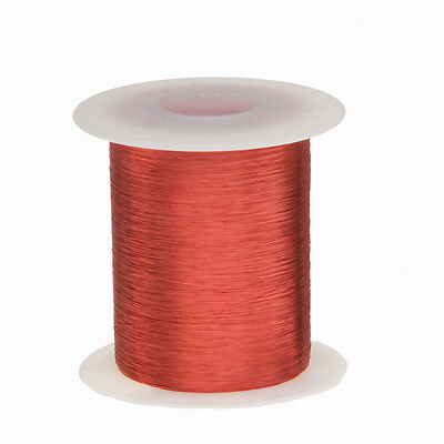 43 Awg Gauge Enameled Copper Magnet Wire 2 Oz 8262 Length 0.0024 155c Red