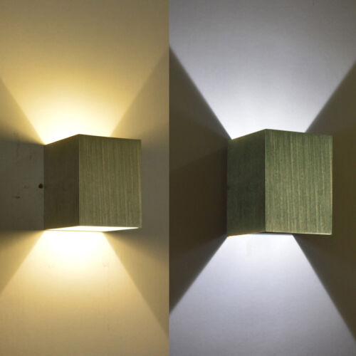 Modern 3W DayWarmWhite LED Square Up Down Wall Lamp Spot Light Sconce
