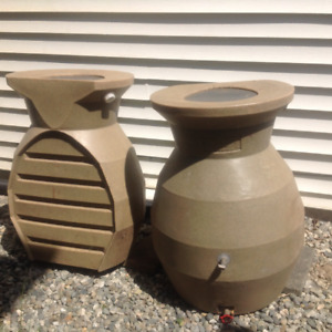 Pair of Rain Barrels