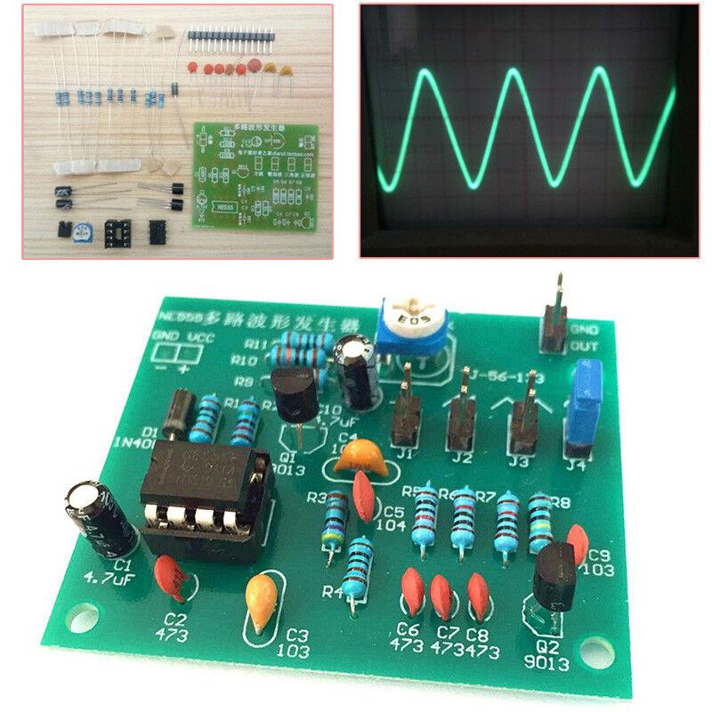 NE555 Multi-Channel Waveform Generator Module Sine Triangle Square Wave DIY Kits