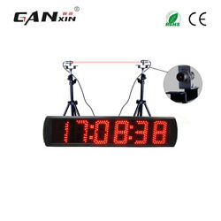 Led race timing clock electronic stopwatch lap timer countdown laser timer