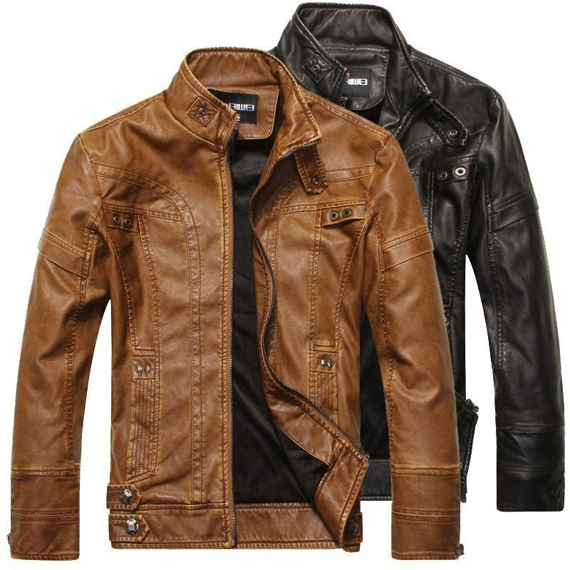 New Genuine Soft Lambskin Leather Mens Biker Pants Slim Fitting Swagger 070