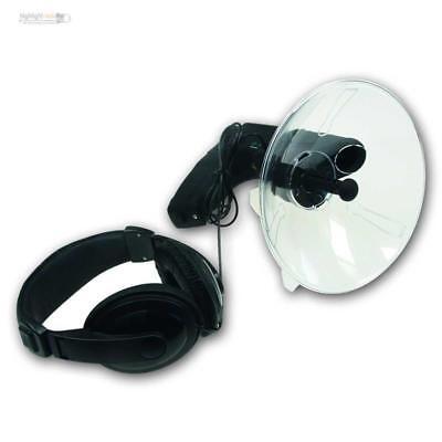 """Parabol-Richtmikrofon """"PRM-1"""" mit Kopfhörer, Geräuschverstärker, Abhörgerät"""