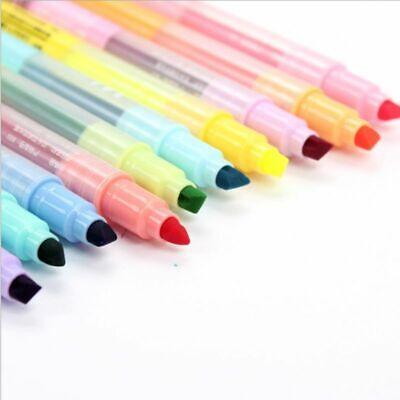10pcs Double-end Erasable Highlighter Pen Markers Pastel Liquid Chalk Marker