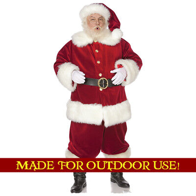 SANTA CLAUS Crummy Outdoor YARD SIGN Lifesize Christmas Standee Standup F/S