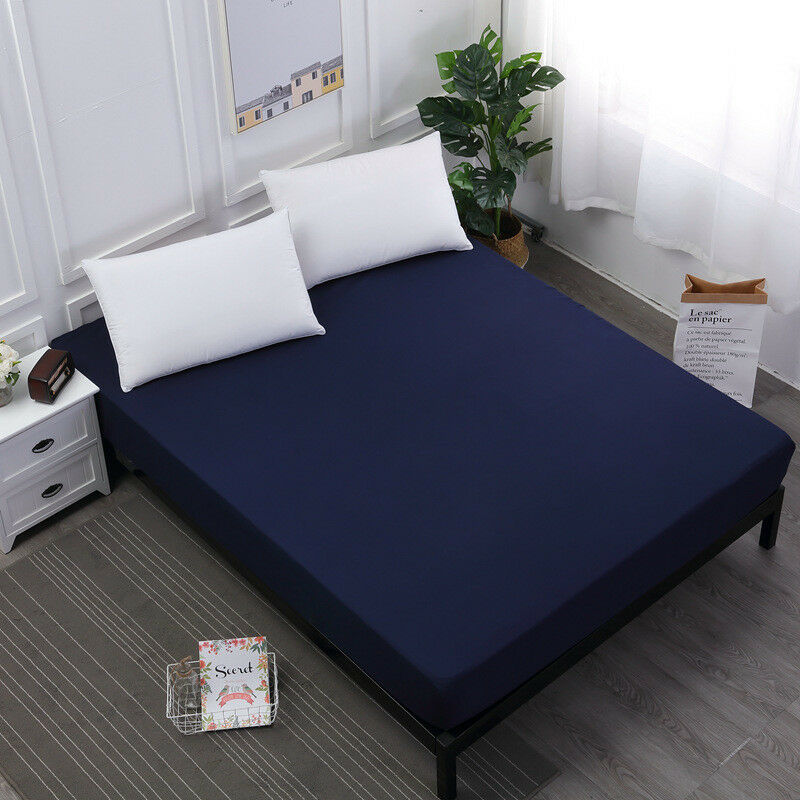 Waterproof Mattress Cover Protector Bed Pad Cover Fitted Sheet Single Twin Queen