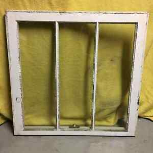 Authentic Antique Wood Window Sash 3x1 Pane