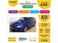 Lexus CT 200h 1.8 CVT 2011MY SE-L FROM £45 PER WEEK!