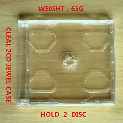 1pcs New Standard Clear 2 Disc Cd Jewel Case Hold Cddvd2cd