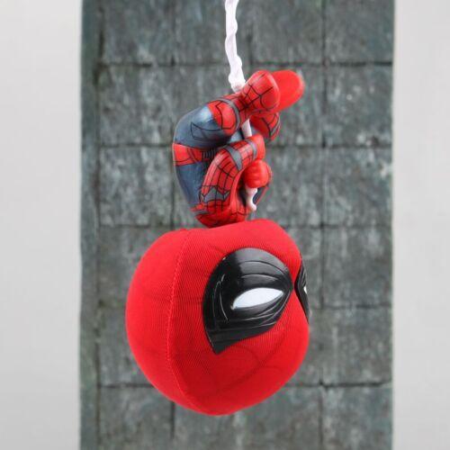 marvel spider man upside down spiderman bobble head action figure