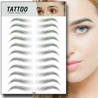 11 Pairs Eyebrow Sticker Tattoo Waterproof Lasting Makeup US Eyebrow Liner & Definition