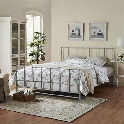 Modway Estate Bed, King, Gray