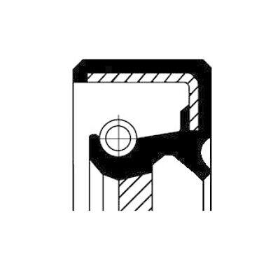 CORTECO Wellendichtring Kurbelwelle Simmerring stirnseitig 19016600B