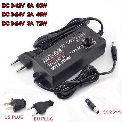 Variable Adjustable Voltage 3-12v 3-24v 9-24v Acdc Power Supply Adapter Display