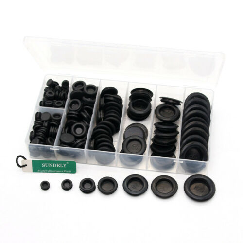 170Pcs Rubber Grommet Firewall Hole Plug Set Electrical Wire Gasket Kit