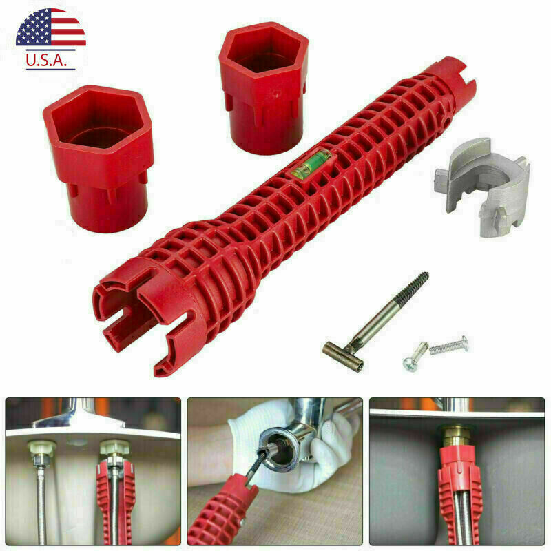 8 in 1 Multifunction Faucet Sink Installer Wrench Plumbing Pipe Spanner Tool