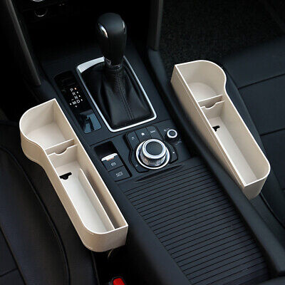 1 Pair Car Seat Crevice Storage Box Gaps Filler Sundries Organizer Box Beige