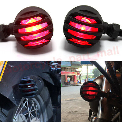 2x Motorcycle Red LED Turn Signal Tail Brake Indicator Integrated Light Red