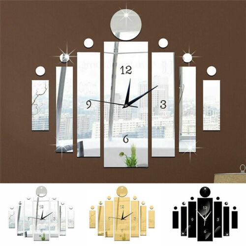 Home Decoration - DIY 3D Large Wall Clock Number Mirror Sticker Home Office Room Modern Art Decor