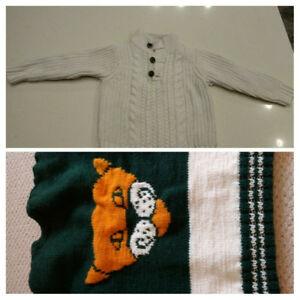 BABY GAP Toddler Boy Sweater & Handwoven Vest size  4-5 Years