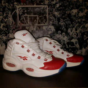 allen iverson question red toe size 12 nds $200.00