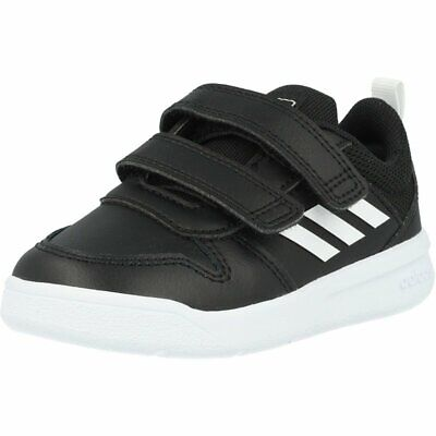 adidas Tensaur I Black/White Leather Infant Trainers Shoes