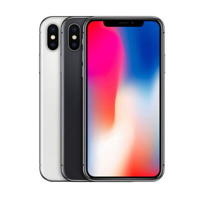 Apple iPhone X - 64GB - Space Gray or Silver Factory Unlocked (CDMA + GSM)