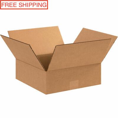 X25 Small Flat Cardboard Shipping Boxes 12 X 12 X 4in